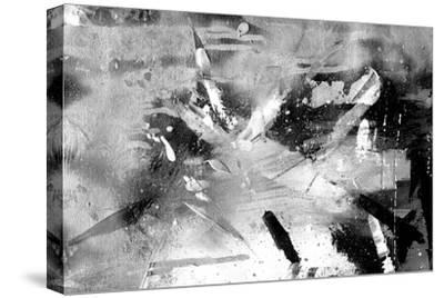 Abstract Black And White Painting On Grunge Paper Texture by run4it