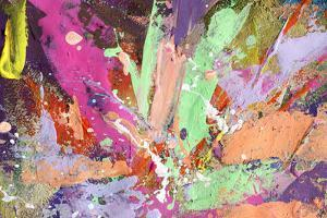 Abstract Painting Background With Expressive Bright Brush Strokes by run4it