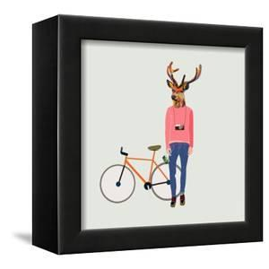 Fashionable Hipster Deer by run4it