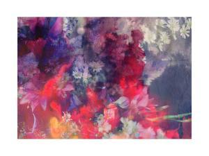 Romantic Floral Background Combined with Ink Paper Texture by run4it
