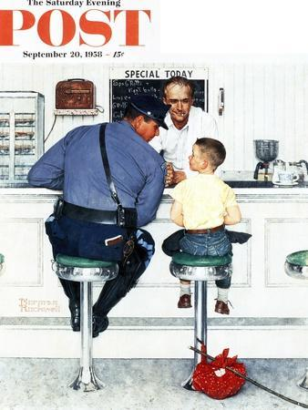 """Runaway"" Saturday Evening Post Cover, September 20,1958-Norman Rockwell-Premium Giclee Print"