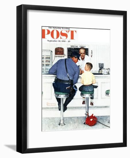"""Runaway"" Saturday Evening Post Cover, September 20,1958-Norman Rockwell-Framed Giclee Print"