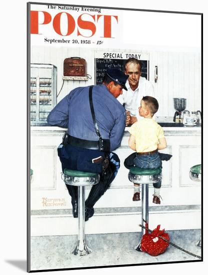 """""""Runaway"""" Saturday Evening Post Cover, September 20,1958-Norman Rockwell-Mounted Giclee Print"""