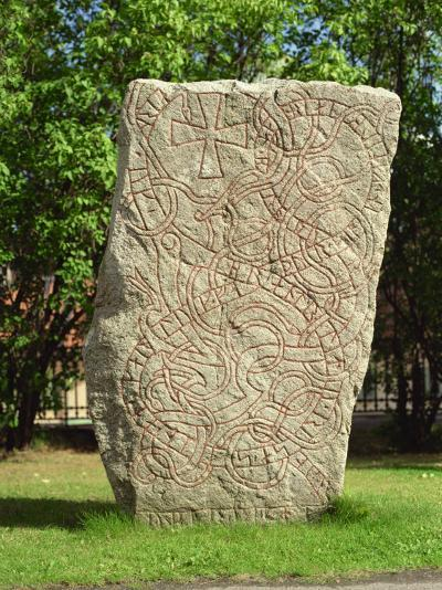 Rune Stone in Grounds of Uppsala Cathedral, Sweden, Scandinavia, Europe-Richard Ashworth-Photographic Print