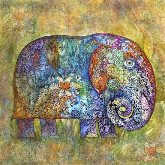 Runes Elephant-Oxana Zaika-Giclee Print