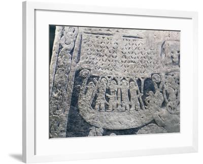 Runestone from Gotland Island--Framed Giclee Print