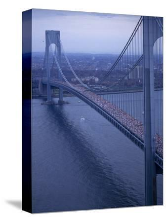Runners Crossing the Verrazano Bridge after Starting the 1994 New York City Marathon