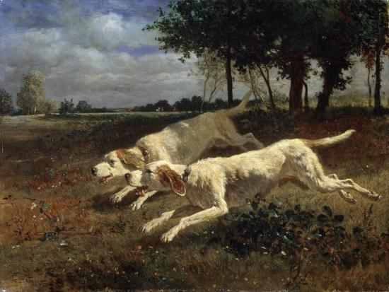 Running Dogs, 1853-Constant Troyon-Giclee Print