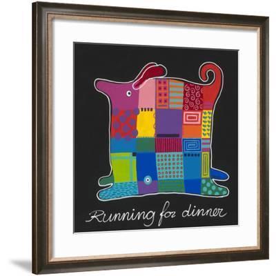 Running For Dinner-Y. Hope-Framed Art Print