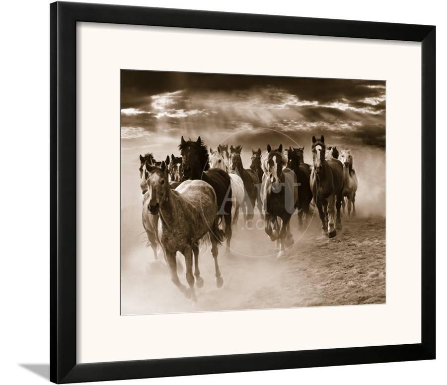Running Horses Framed Art Print by Monte Nagler | Art.com