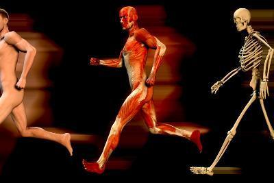 Running Man-Christian Darkin-Photographic Print