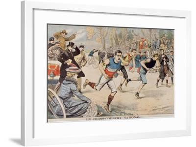 Running, the National Cross Country, from 'Le Petit Journal', 15th March 1903--Framed Giclee Print