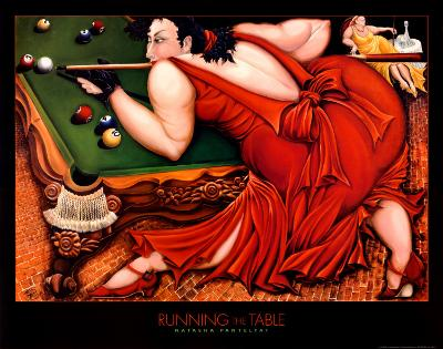 Running the Table-Natasha Pantelyat-Art Print