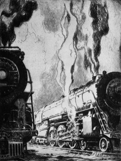 Running the Trains-Otto Kuhler-Giclee Print