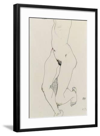 Running Woman, 1913-Egon Schiele-Framed Giclee Print