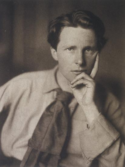 Rupert Brooke English Writer, in 1913--Photographic Print