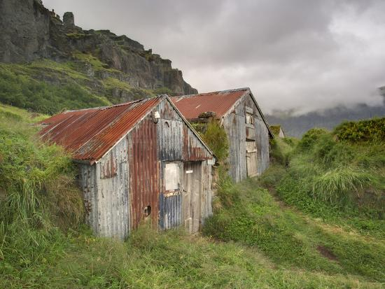 Rural Buildings, Iceland-Adam Jones-Photographic Print