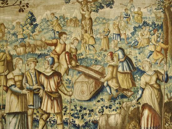 Rural Games, 16th Century Flemish Tapestry--Giclee Print