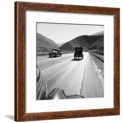 Rural Highway, 1939-Dorothea Lange-Framed Giclee Print