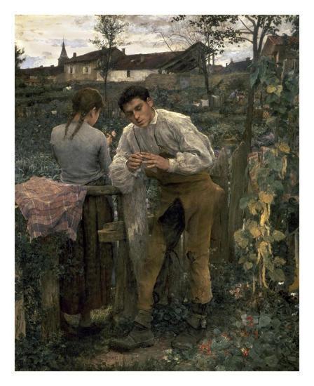 Rural Love-Jules Bastien-Lepage-Art Print