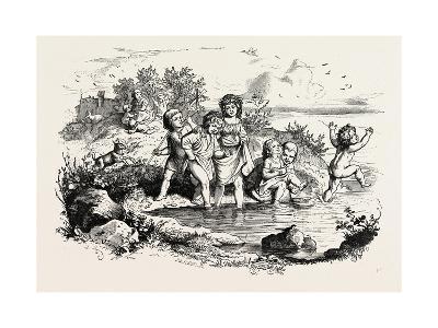Rural Recreations. 1855--Giclee Print