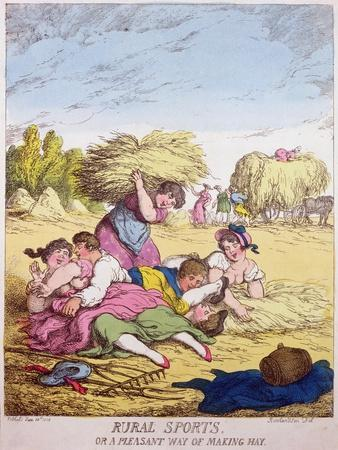 Rural Sports or a Pleasant Way of Making Hay, 1814-Thomas Rowlandson-Giclee Print