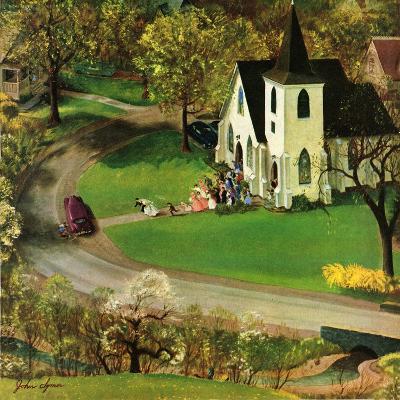 """Rural Wedding"", May 29, 1954-John Clymer-Giclee Print"