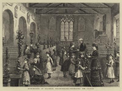 Rush-Bearing at Grasmere, Westmoreland, Decorating the Church--Giclee Print