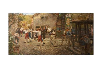 Rush Bearing at Middleton, Rochdale, Lancashire, 1900–-18-Frederick William Jackson-Giclee Print