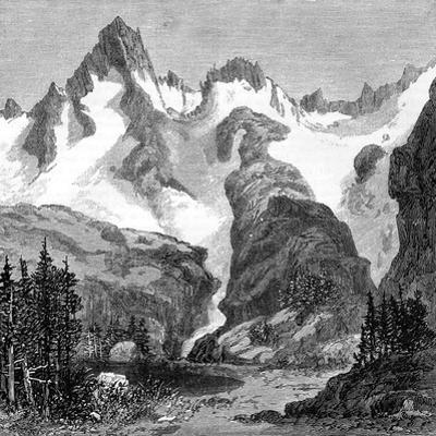 Rush Creek Glacier, on the Eastern Slopes of the Sierra Nevada, California, USA, 1875