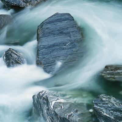 Rushing water and rocks on South Island, New Zealand-Micha Pawlitzki-Photographic Print