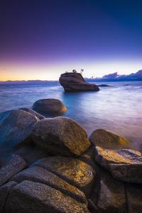 Bonsai Rock at sunset, Lake Tahoe, Nevada, USA by Russ Bishop