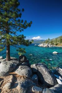 Boulders and cove at Sand Harbor State Park, Lake Tahoe, Nevada USA by Russ Bishop