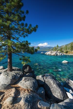 Boulders and cove at Sand Harbor State Park, Lake Tahoe, Nevada USA