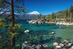 Boulders and cove at Sand Harbor State Park, Lake Tahoe, Nevada, USA by Russ Bishop