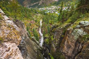 Box Canyon and the town of Ouray, Colorado, USA by Russ Bishop