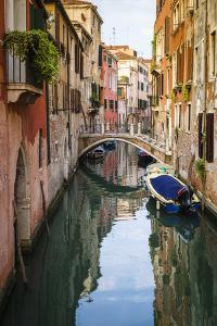 Canal and houses, Venice, Veneto, Italy by Russ Bishop