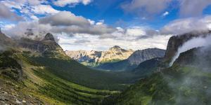 Going to the Sun Highway from Logan Pass, Glacier National Park, Montana, Usa by Russ Bishop