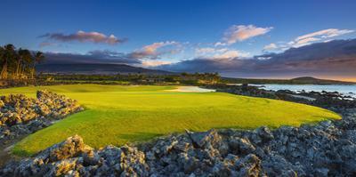 Hole 17 at the Four Seasons Hualalai Golf Course, Kohala Coast, the Big Island, Hawaii, Usa by Russ Bishop
