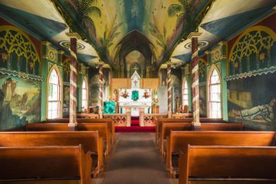 Interior of St. Benedict's Painted Church, Captain Cook, the Big Island, Hawaii by Russ Bishop