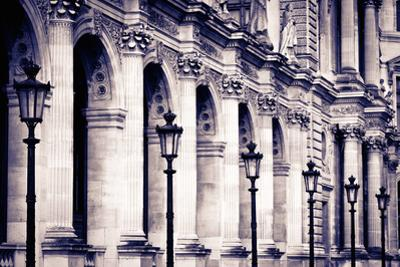 Lamp Posts and Columns at the Louvre Palace, Paris, France by Russ Bishop