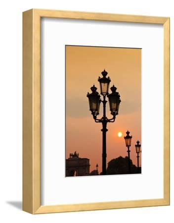 Lamp Posts at Sunset, Paris, France