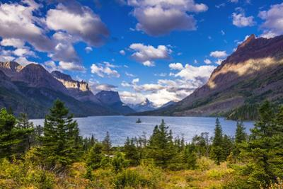 Saint Mary Lake and Wild Goose Island, Glacier National Park, Montana by Russ Bishop