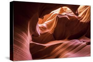 Slickrock formations in lower Antelope Canyon, Navajo Indian Reservation, Arizona, USA. by Russ Bishop