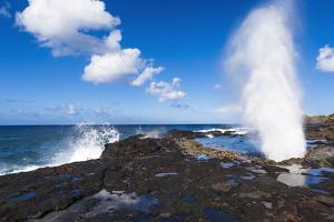 Spouting Horn, Po'ipu area, Island of Kauai, Hawaii, USA by Russ Bishop