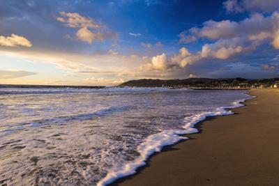 Sunset and surf, Ventura, California, USA