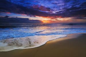 Sunset over the Channel Islands from San Buenaventura State Beach, Ventura, California, USA by Russ Bishop