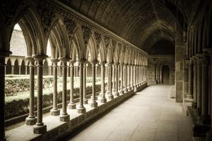 The abbey cloister, Mont Saint-Michel, Normandy, France by Russ Bishop
