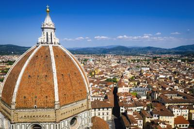The Duomo dome and rooftops from Giotto's Bell Tower, Florence, Tuscany, Italy by Russ Bishop