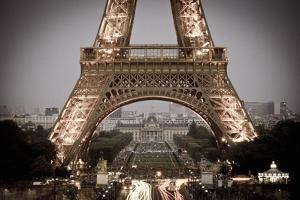 The Eiffel Tower at Dusk from Trocadero Square, Paris, France by Russ Bishop